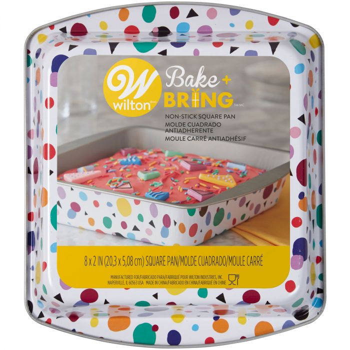 Fantastic Wilton Semi Disposable Tin Geo Square 20Cm Happy Baking Funny Birthday Cards Online Barepcheapnameinfo