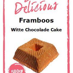 Bake Delicious Framboos Witte chocolade Cake