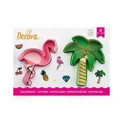 Decora Flamingo & Palm Cookie Cutters