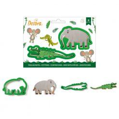 Decora Krokodil & Olifant Cutters set/2