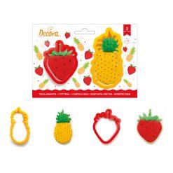 Decora Pineapple & Strawberry Cutters set/2