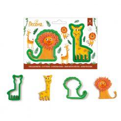 Decora Lion & Giraffe Cookie Cutters set/2