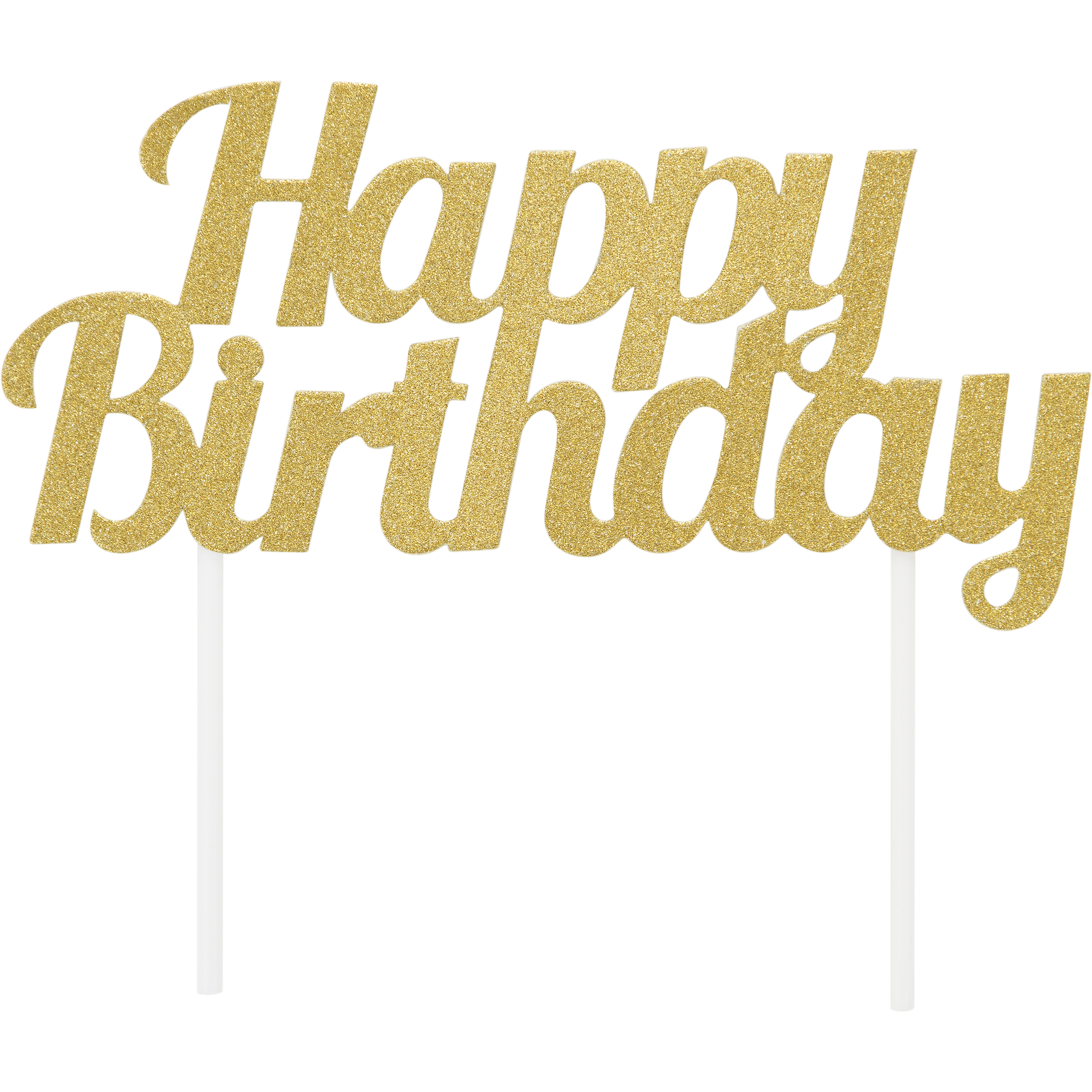 Terrific Happy Birthday Cake Topper Glitter Gold Happy Baking Personalised Birthday Cards Cominlily Jamesorg