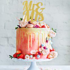 Anniversery House Cake Topper Glitter Goud