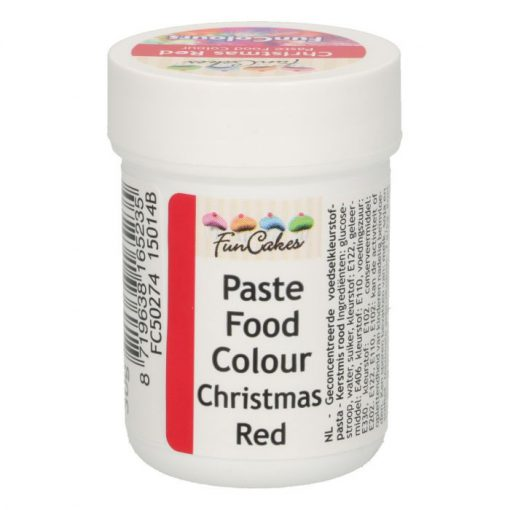 FunCakes FunColours Food Paste Christmas Red
