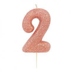 Anniversary House Glitter Rose Gold candle