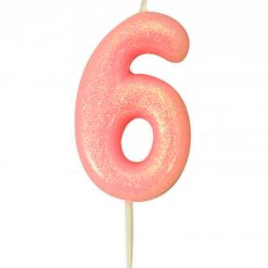 Anniversary House Glitter Candle Pink 6