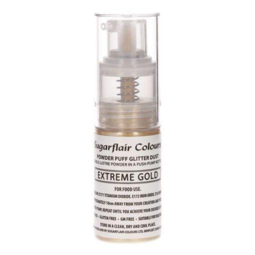 Sugarflair Pum Spray Glitter Extreme Gold