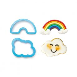 Decora Rainbow & Cloud Cookie Cutters