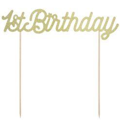 PartyDeco 1st Birthday Cake topper