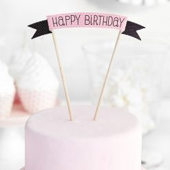 PartyDeco Cake Topper Sweets - Happy Birthday