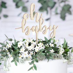 PartyDeco Cake Topper Oh Baby