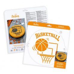Decora Stencil Basketball