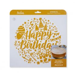 Decora Stencil Happy Birthday