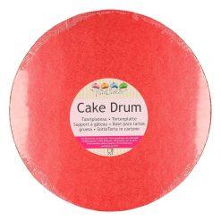 FunCakes Cake drum rond 25cm - Rood