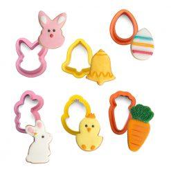 Decora Mini Cookie Cutters Easter Set/6