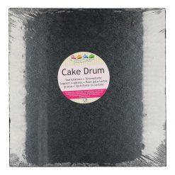 FunCakes Cake Drum Zwart Vierkant