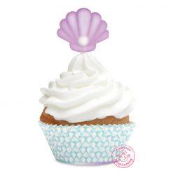 ScrapCooking Cupcake & Topper Set Zeemeermin